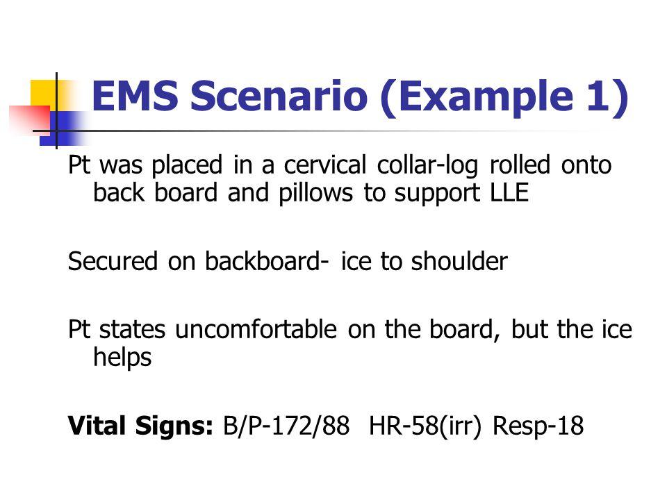 EMS Scenario (Example 1)