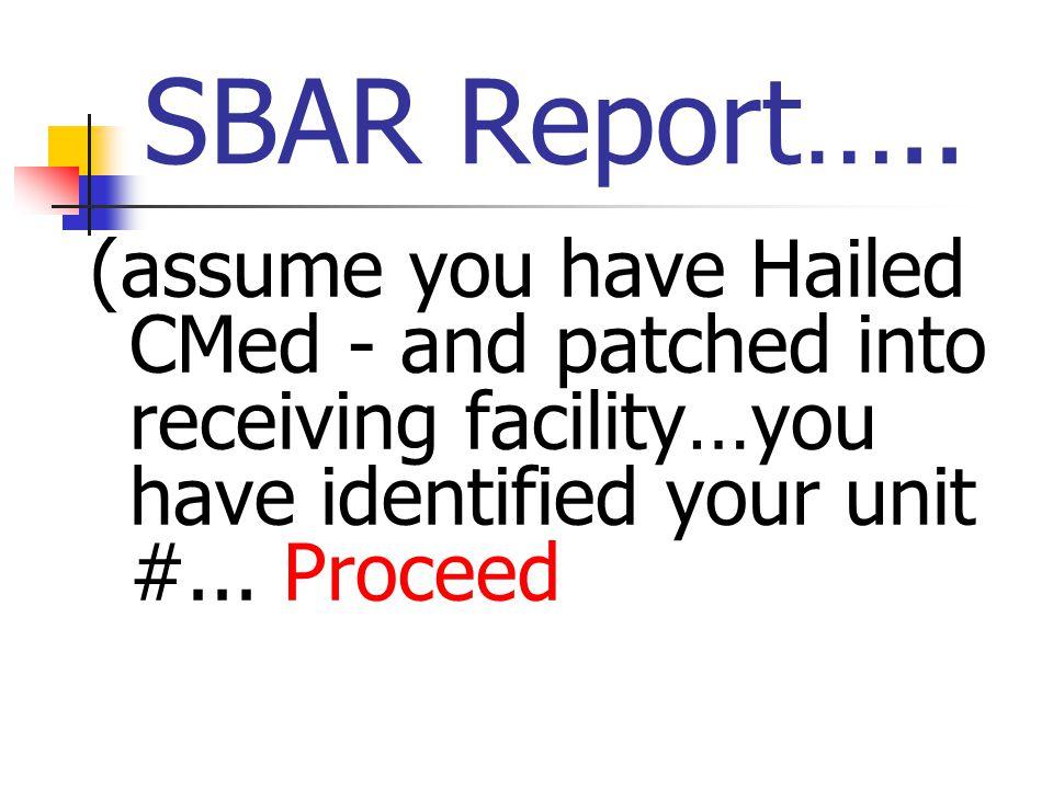 SBAR Report…..