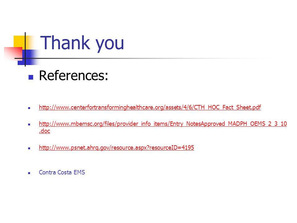 Thank you References: