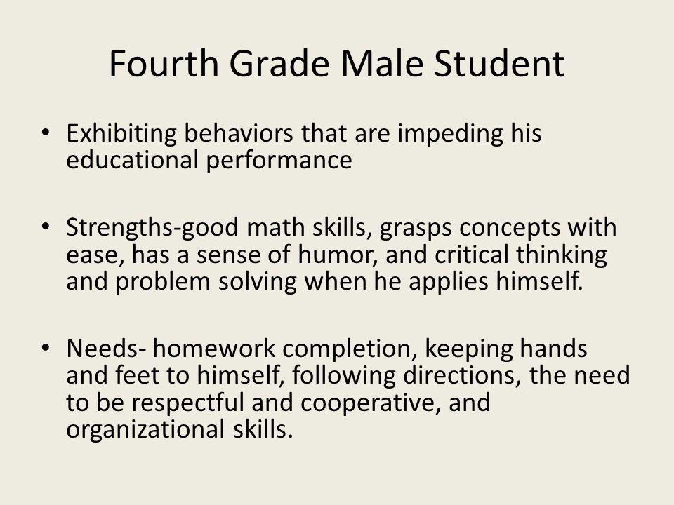 Fourth Grade Male Student