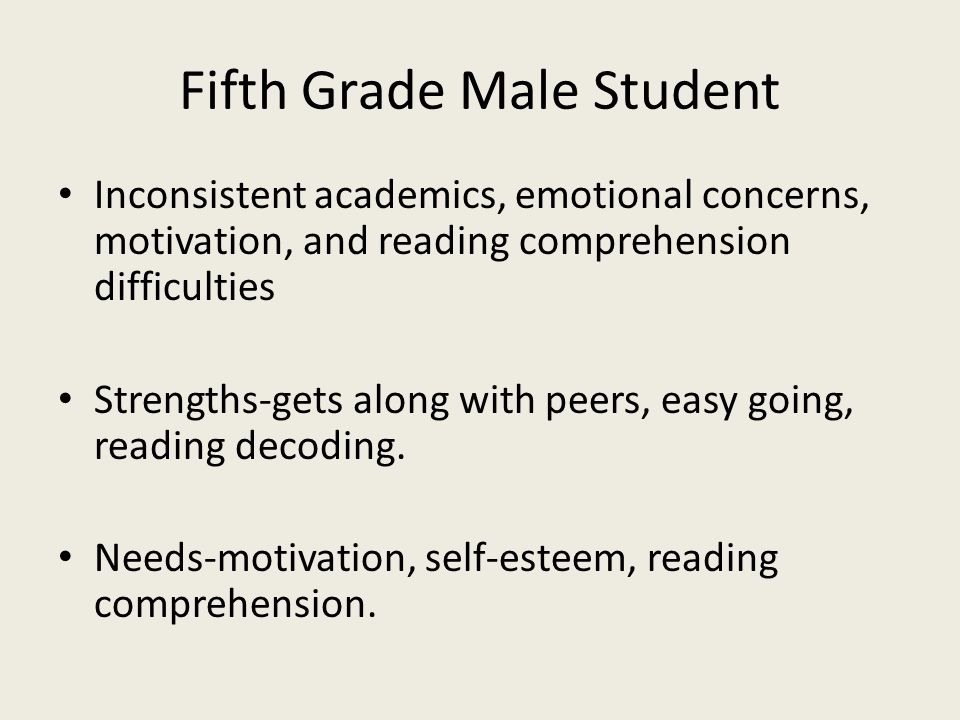 Fifth Grade Male Student
