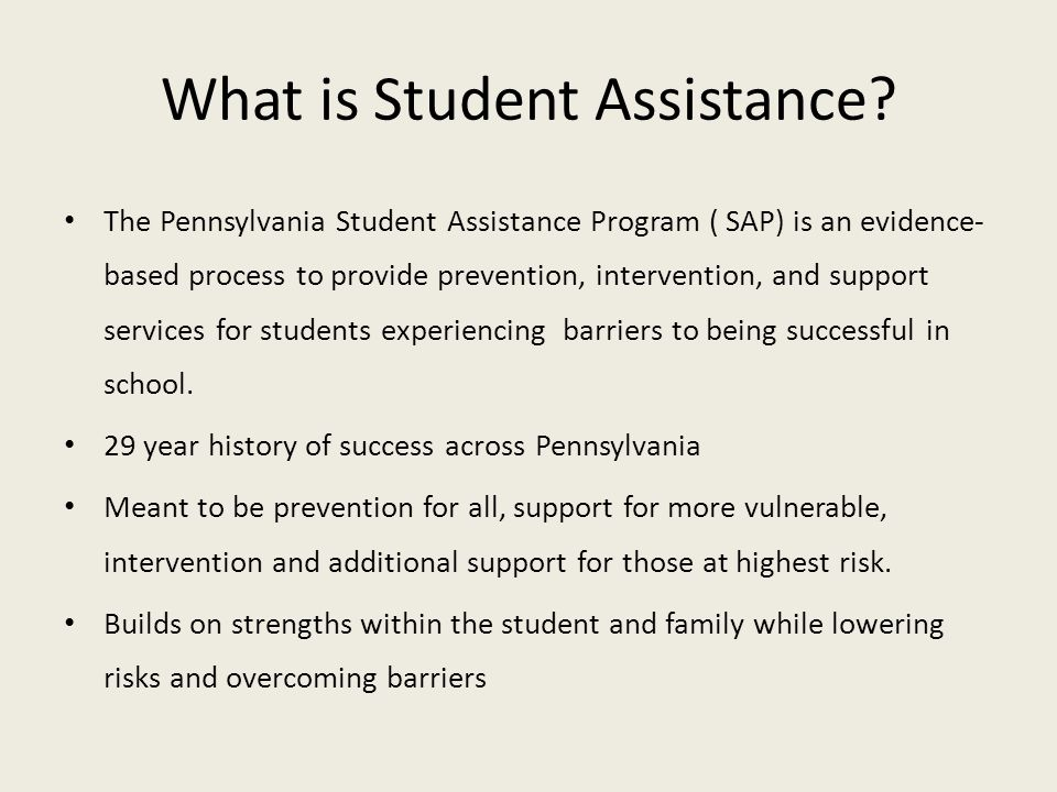 What is Student Assistance
