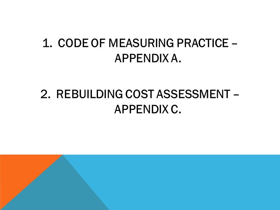 CODE OF MEASURING PRACTICE – APPENDIX A.