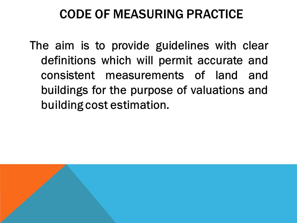 CODE OF MEASURING PRACTICE