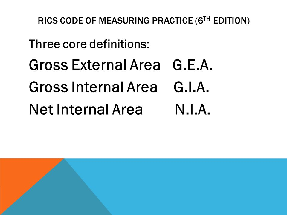 RICS CODE OF MEASURING PRACTICE (6th Edition)