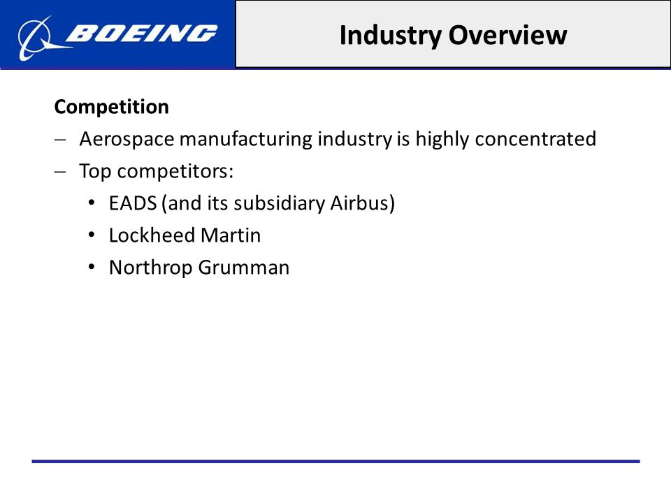 Industry Overview Competition