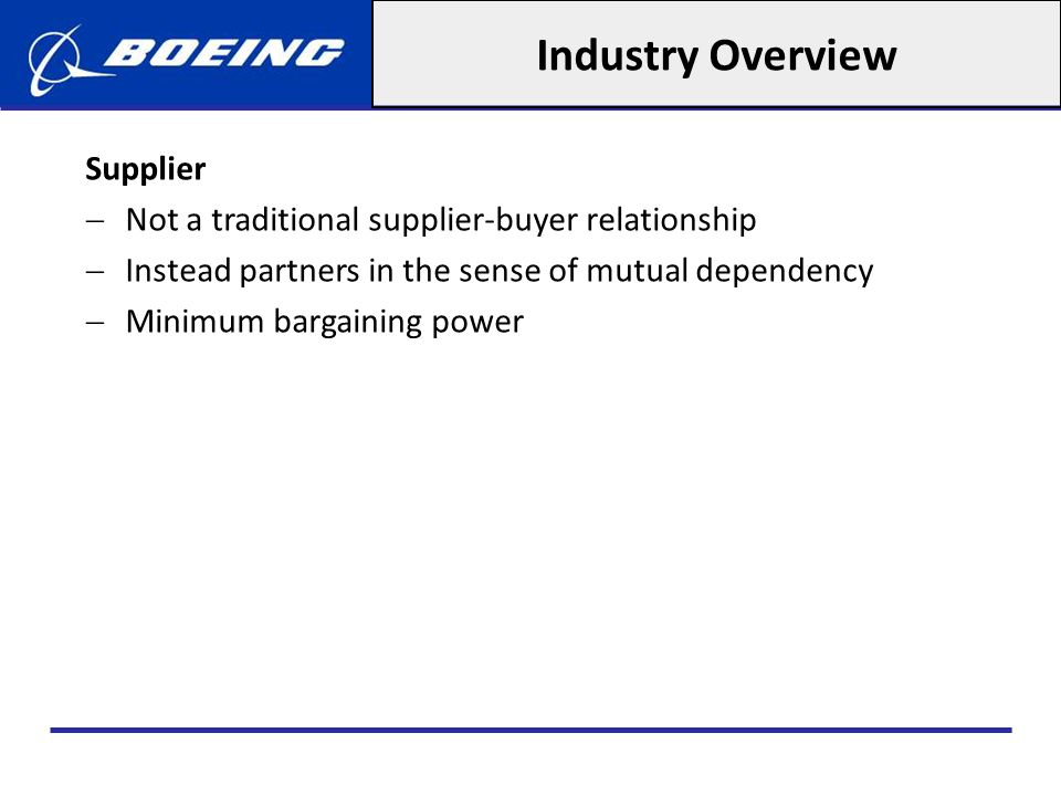 Industry Overview Supplier
