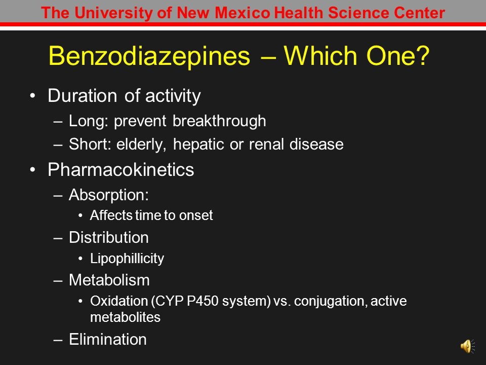 Benzodiazepines – Which One