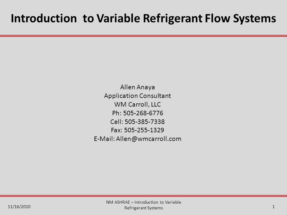 Introduction to variable refrigerant flow systems ppt video introduction to variable refrigerant flow systems sciox Gallery