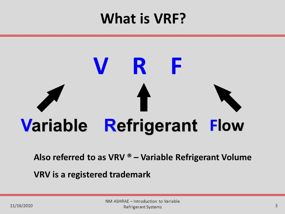Introduction to variable refrigerant flow systems ppt video nm ashrae introduction to variable refrigerant systems sciox Gallery