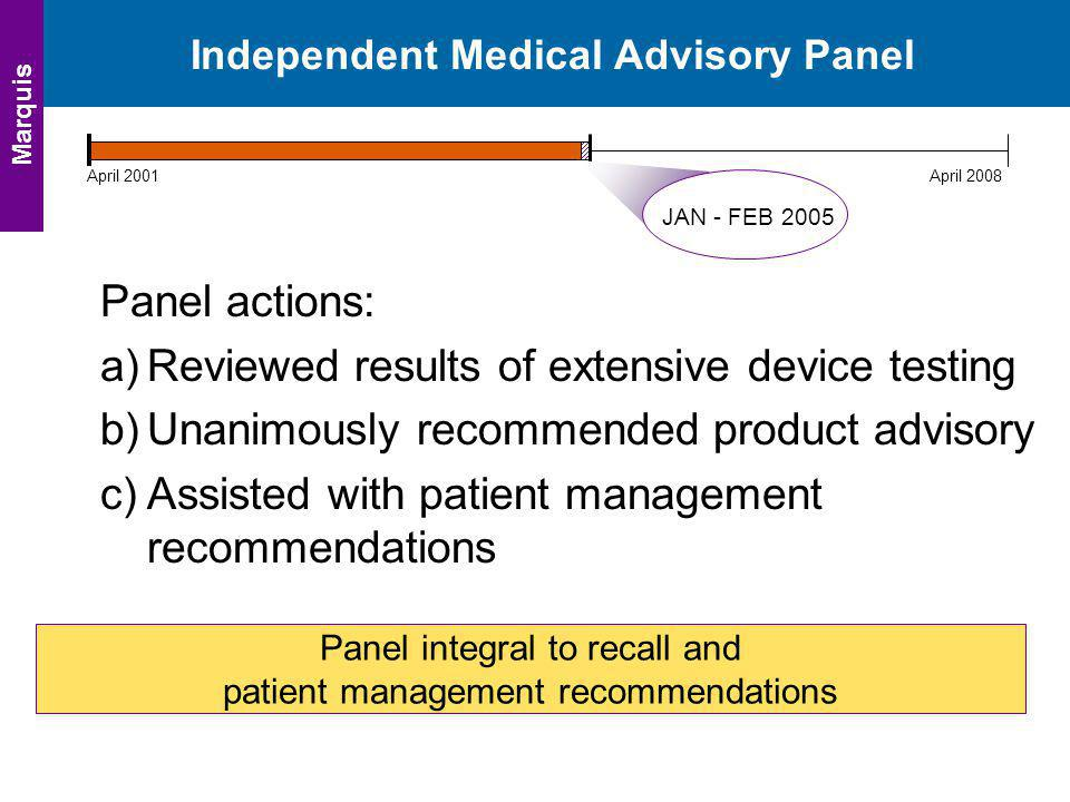 Independent Medical Advisory Panel