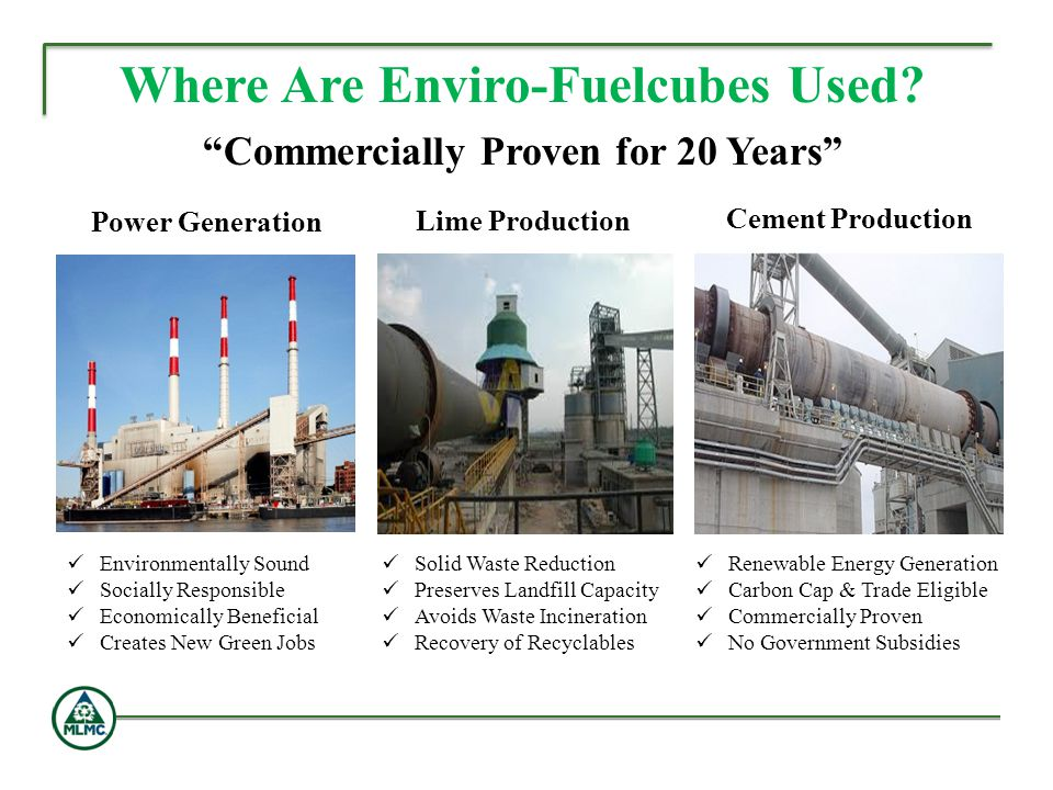 Where Are Enviro-Fuelcubes Used Commercially Proven for 20 Years