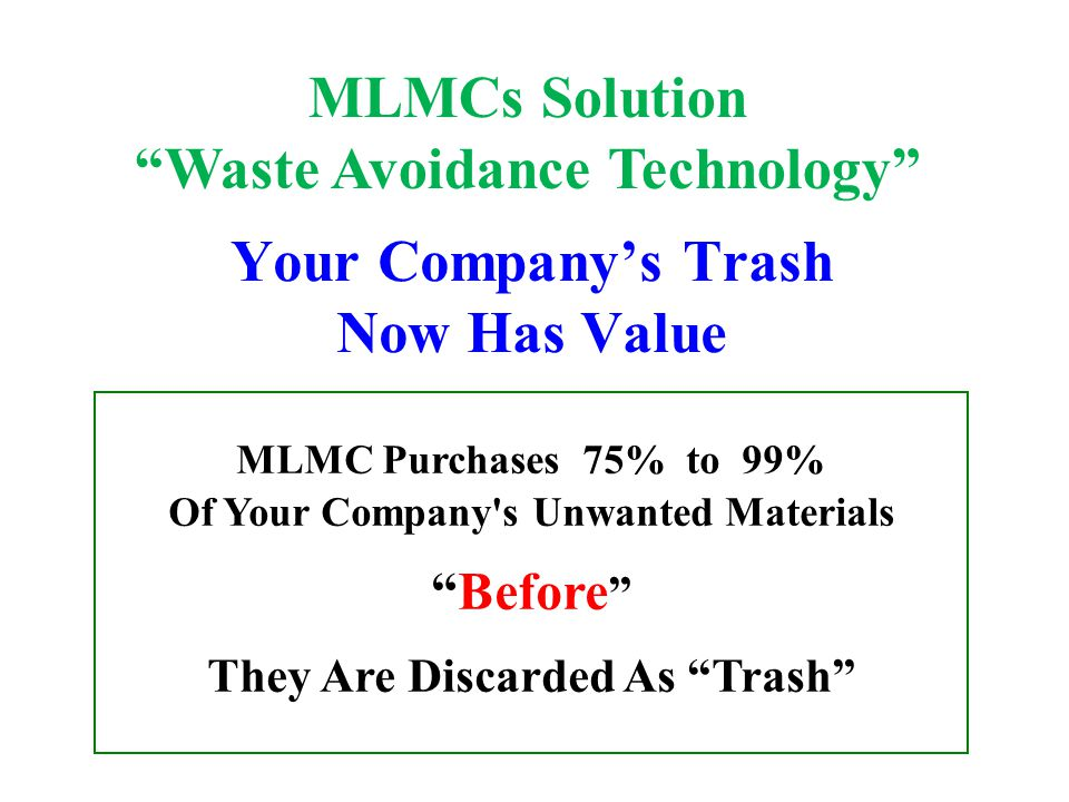 Your Company's Trash Now Has Value