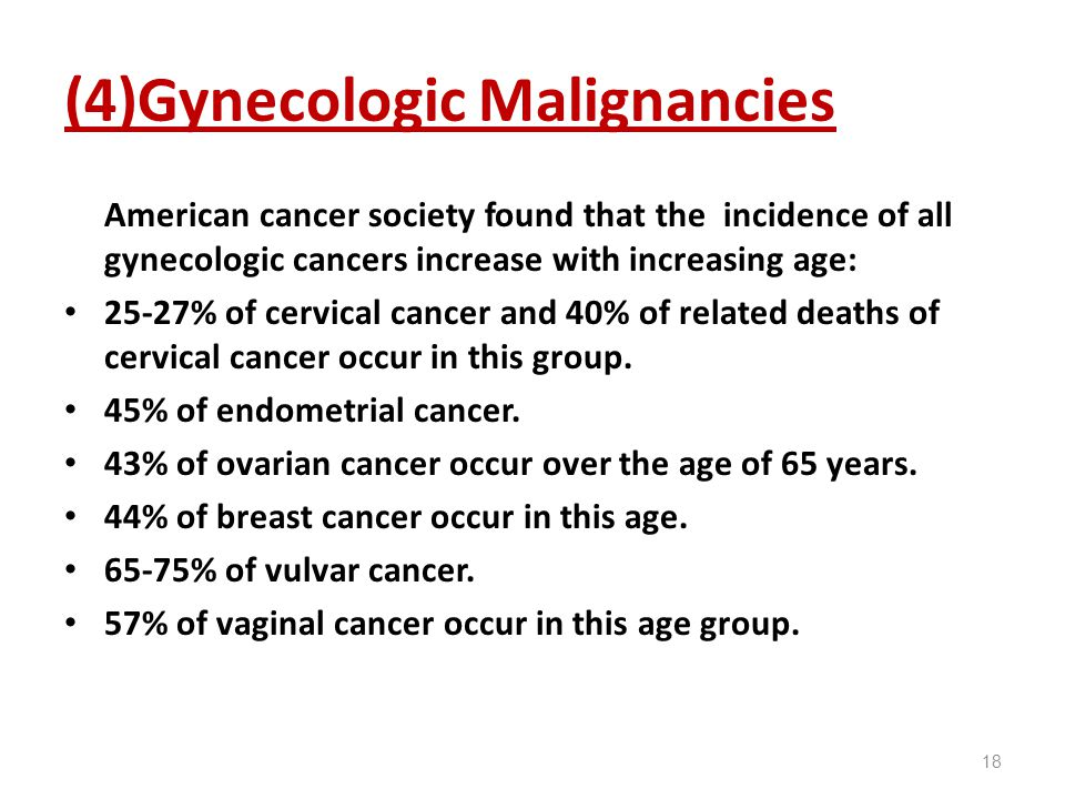 (4)Gynecologic Malignancies