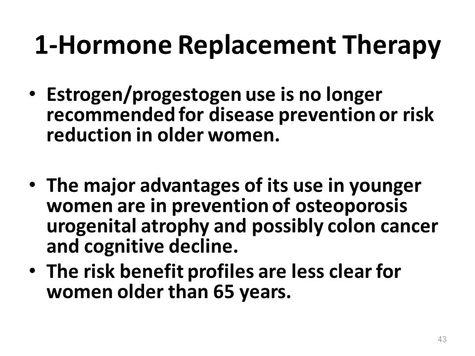 1-Hormone Replacement Therapy