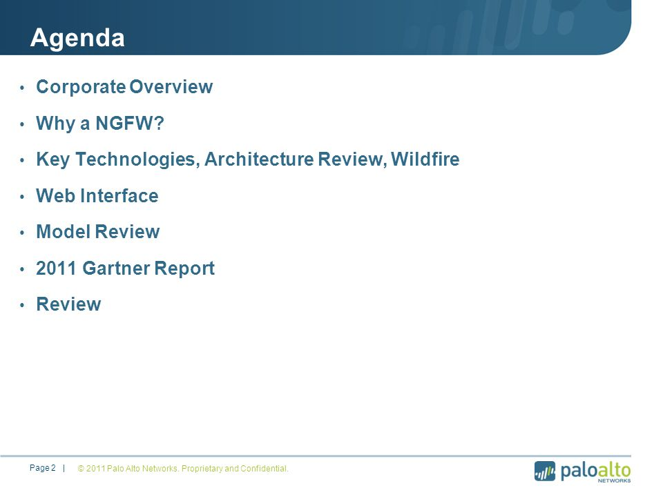 Agenda Corporate Overview Why a NGFW