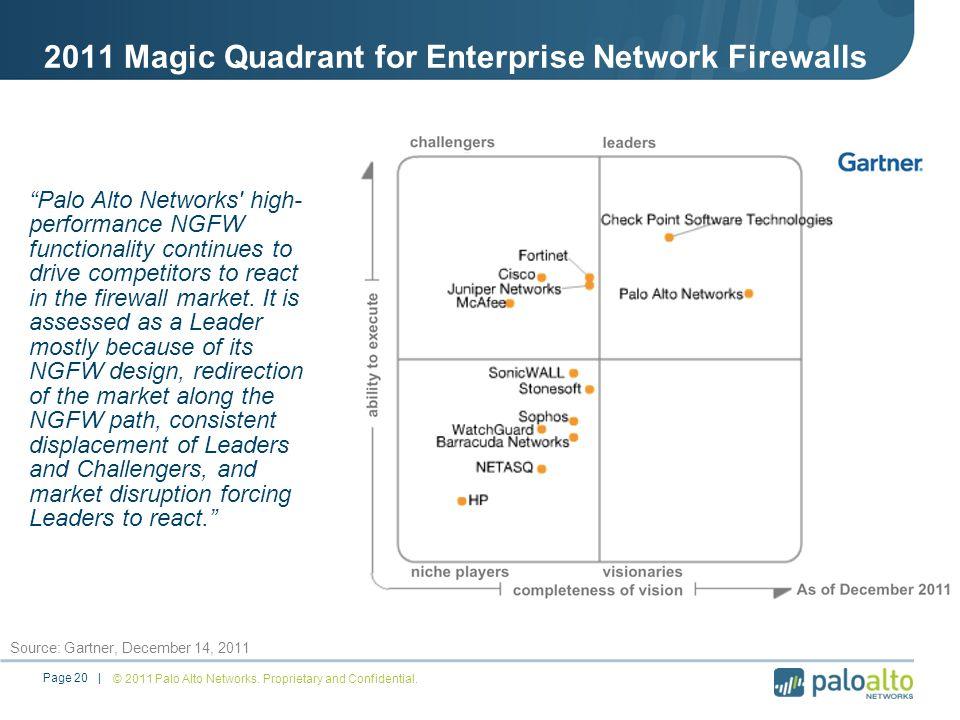 2011 Magic Quadrant for Enterprise Network Firewalls