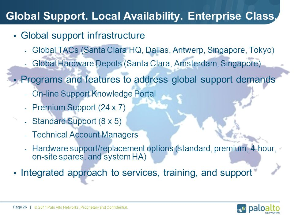 Global Support. Local Availability. Enterprise Class.