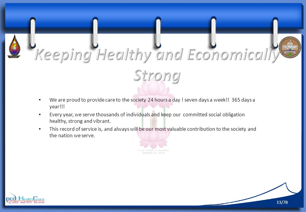 Keeping Healthy and Economically Strong