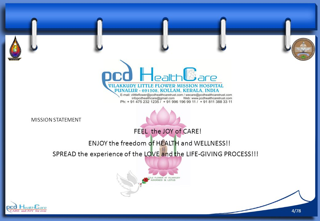 FEEL the JOY of CARE! ENJOY the freedom of HEALTH and WELLNESS!!