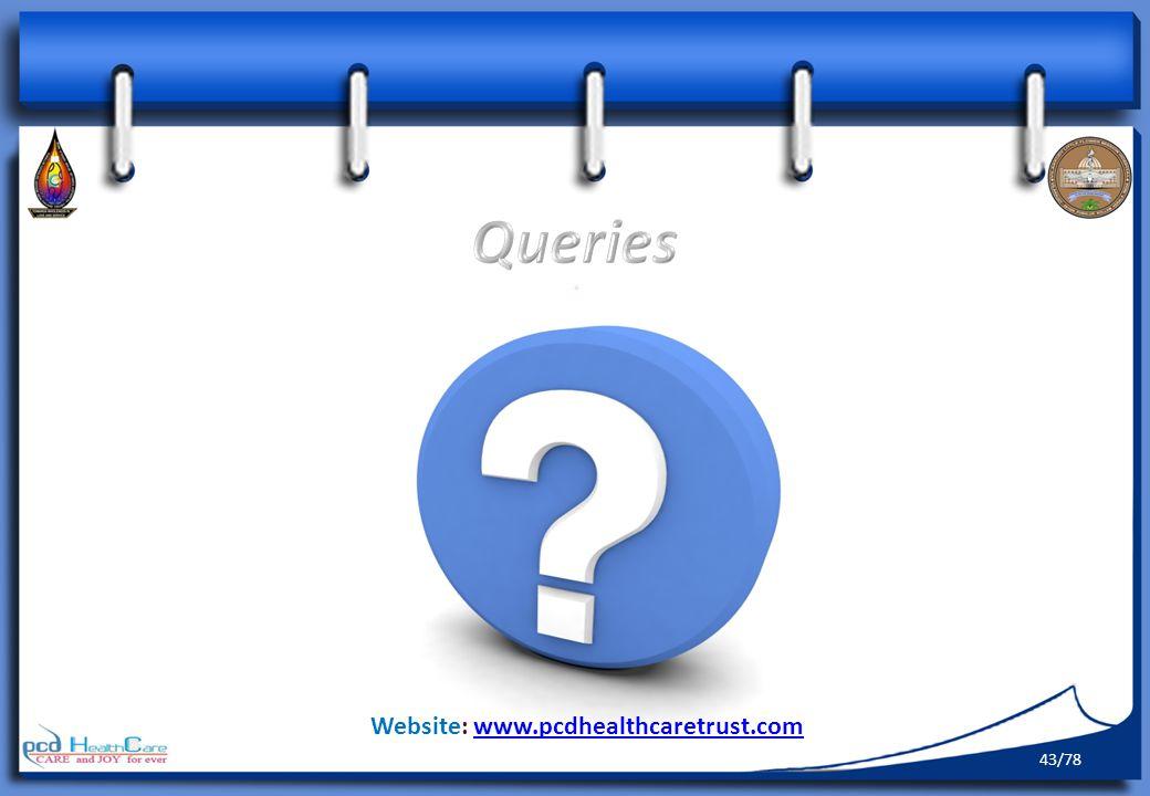 Queries Website: www.pcdhealthcaretrust.com