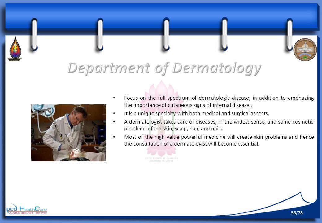 Department of Dermatology