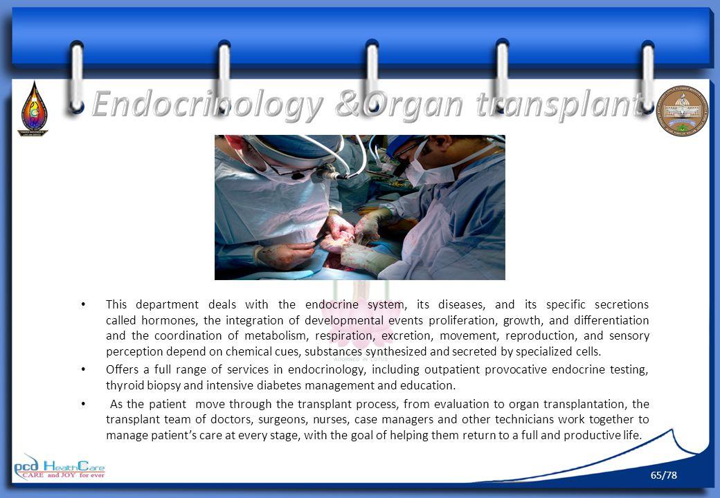 Endocrinology &Organ transplant