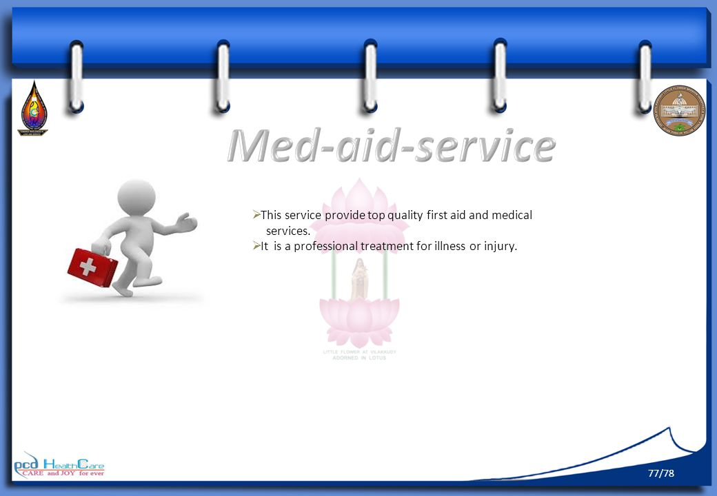 Med-aid-service This service provide top quality first aid and medical