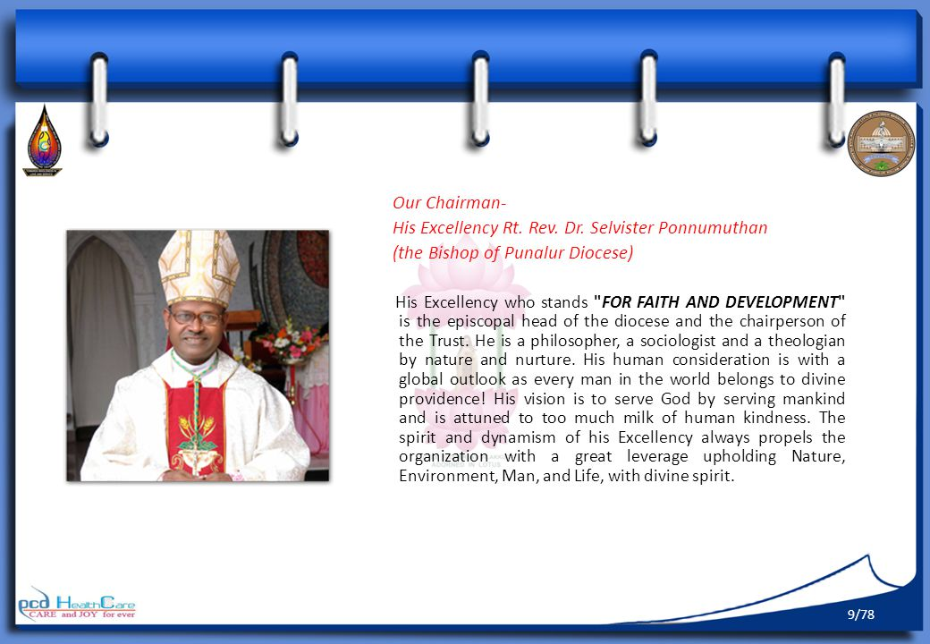 His Excellency Rt. Rev. Dr. Selvister Ponnumuthan
