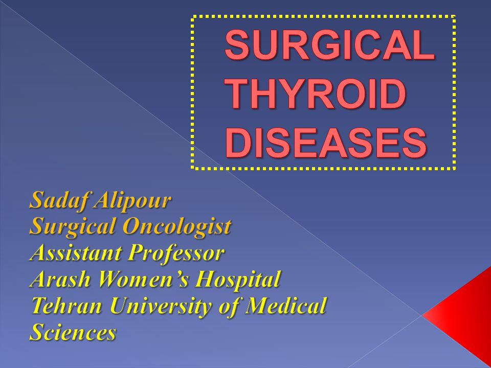 SURGICALTHYROID DISEASES