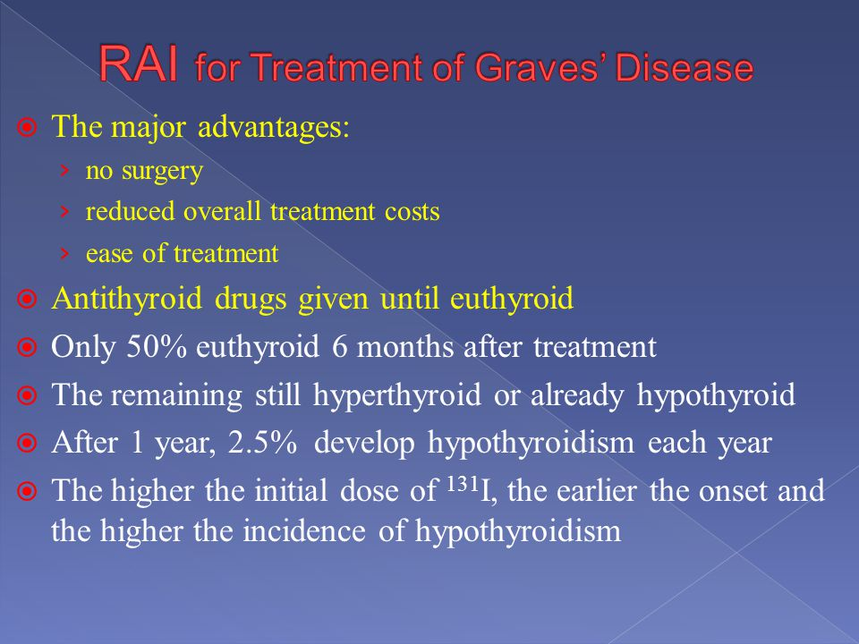 RAI for Treatment of Graves' Disease