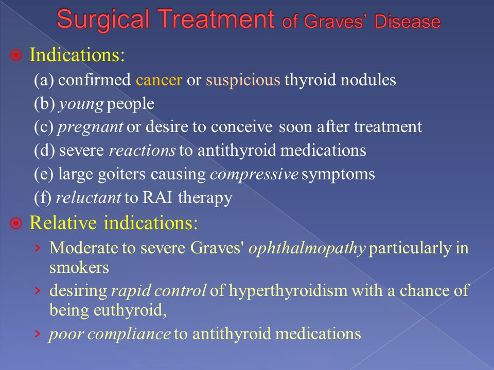Surgical Treatment of Graves' Disease
