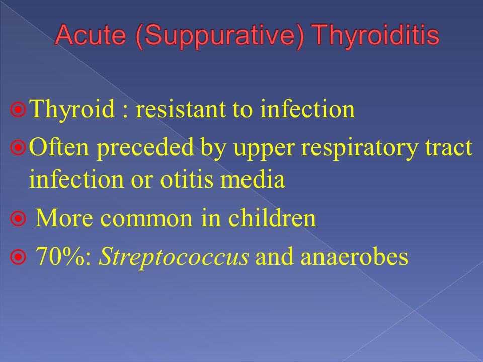 Acute (Suppurative) Thyroiditis