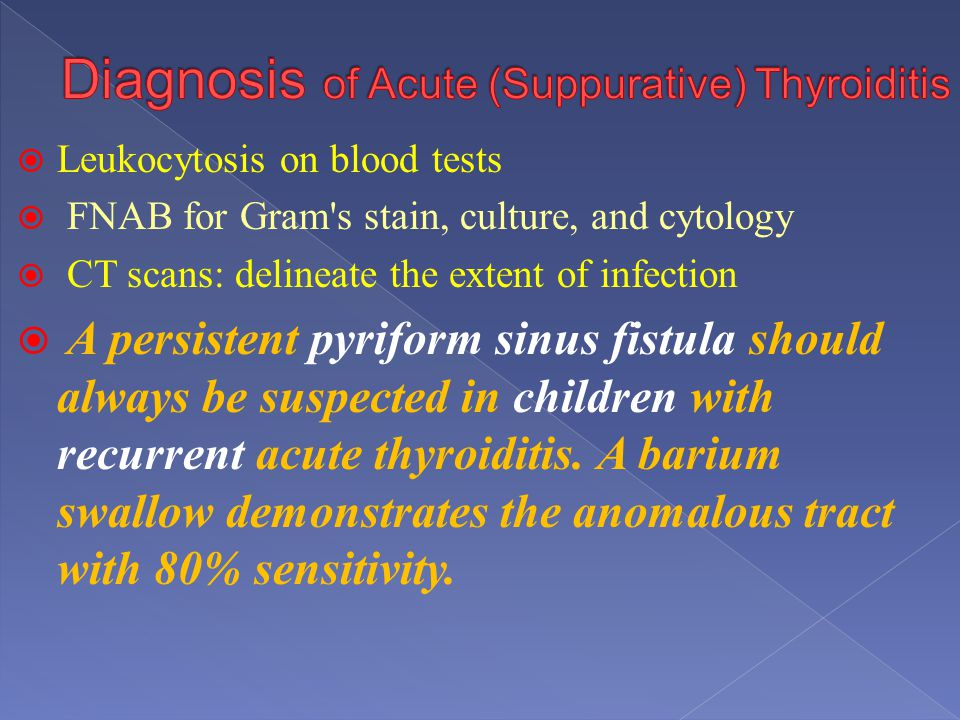 Diagnosis of Acute (Suppurative) Thyroiditis