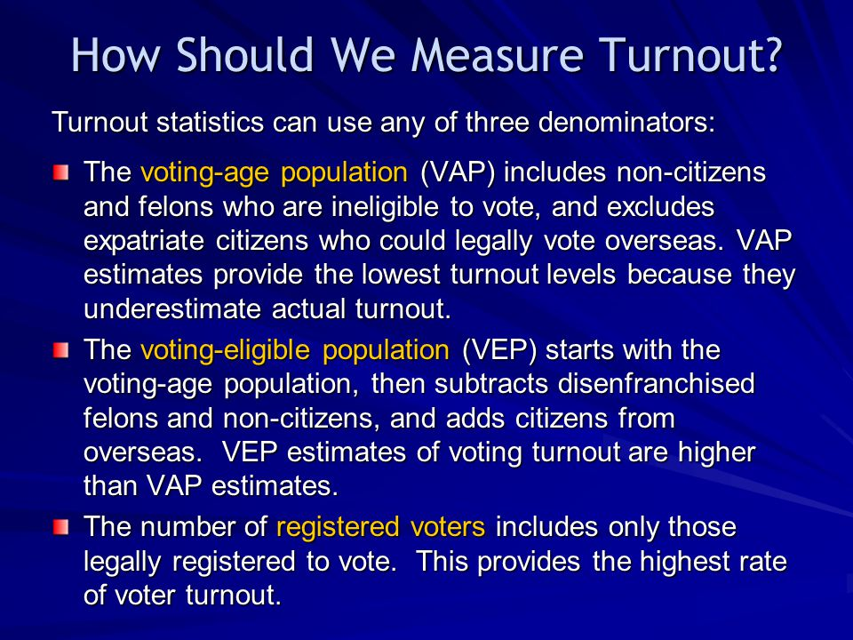 How Should We Measure Turnout