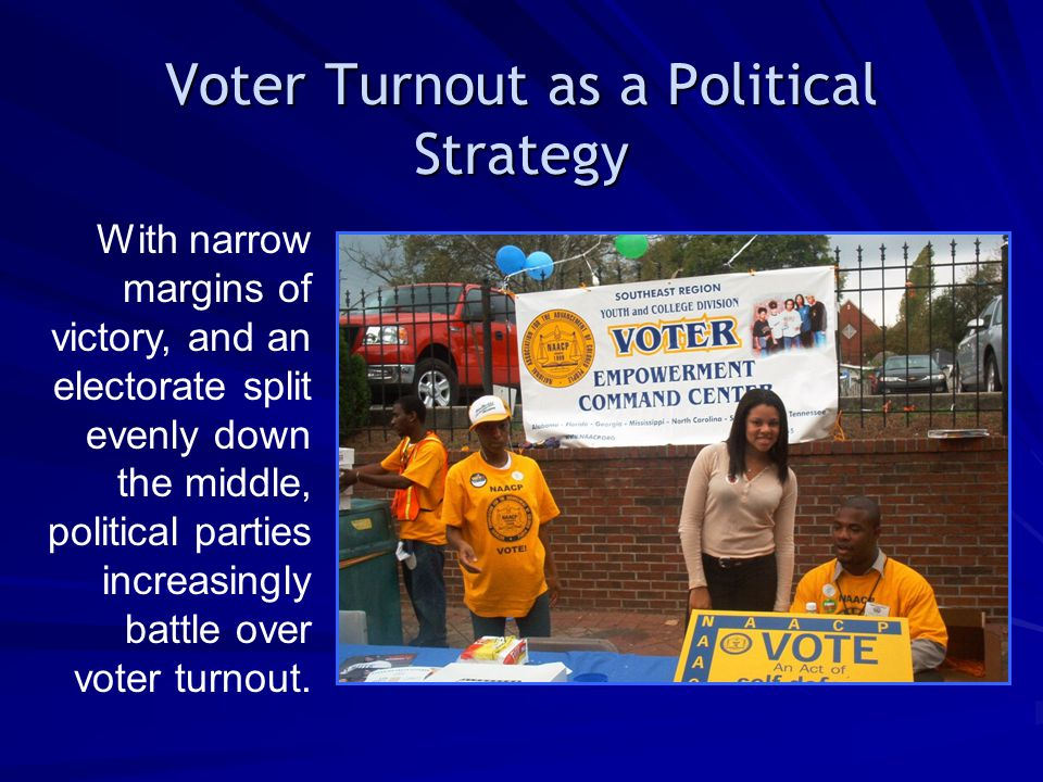 Voter Turnout as a Political Strategy