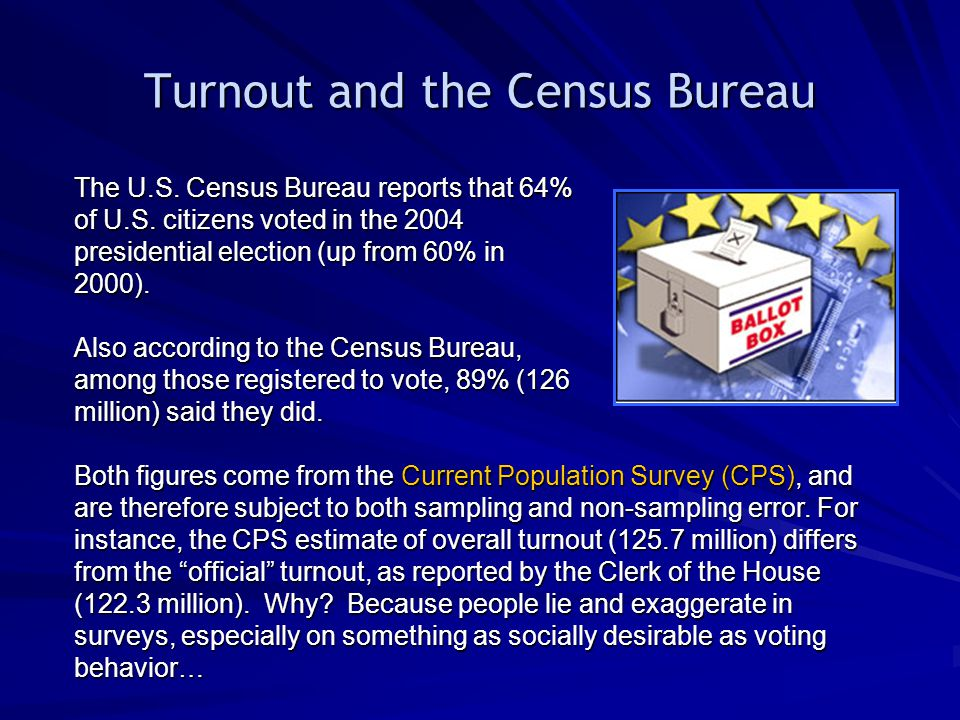 Turnout and the Census Bureau