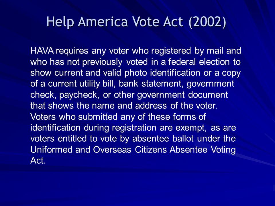 Help America Vote Act (2002)