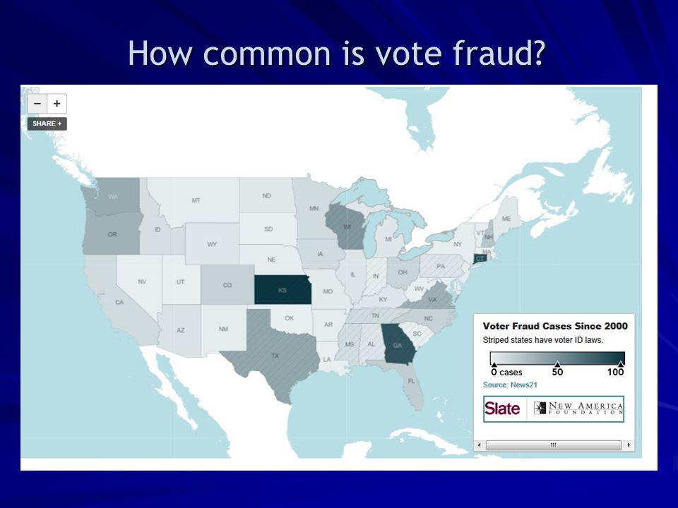 How common is vote fraud