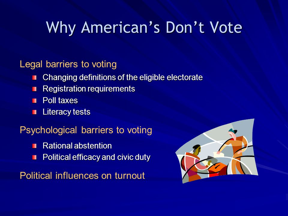 Why American's Don't Vote