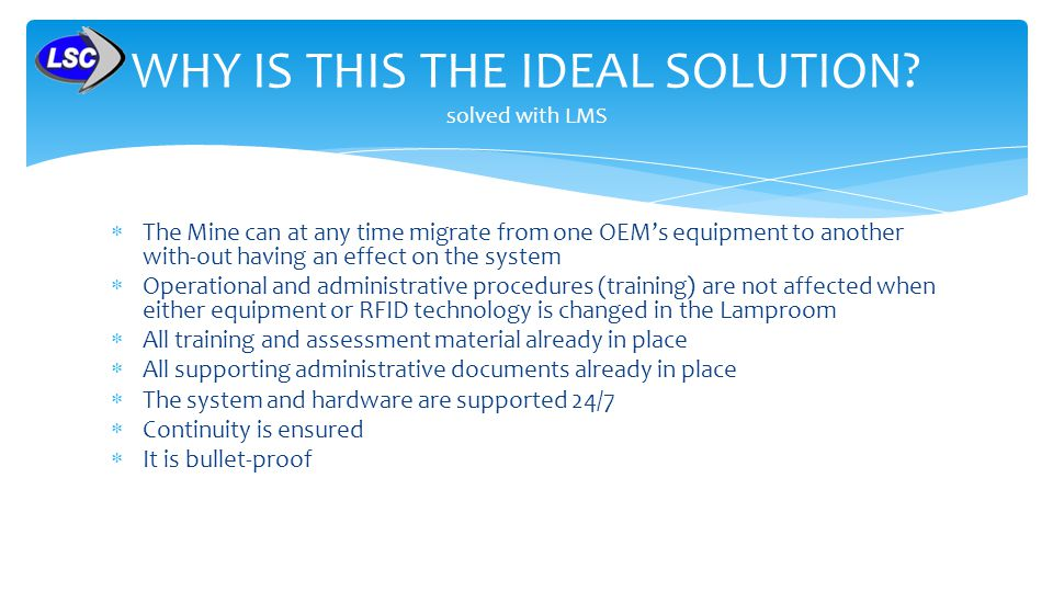WHY IS THIS THE IDEAL SOLUTION solved with LMS