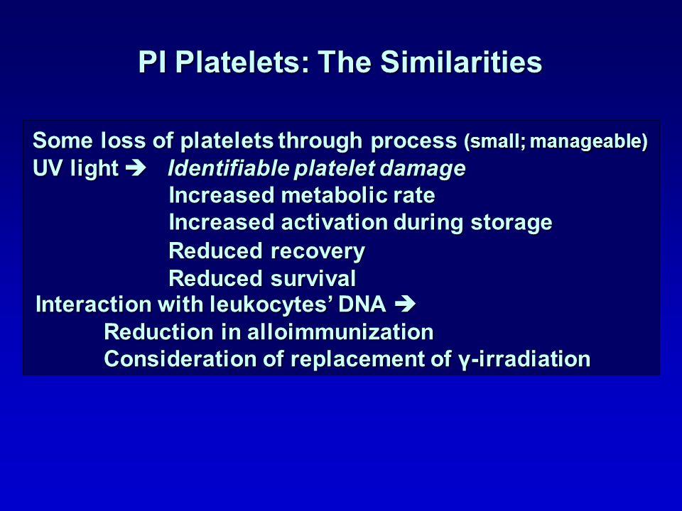 PI Platelets: The Similarities