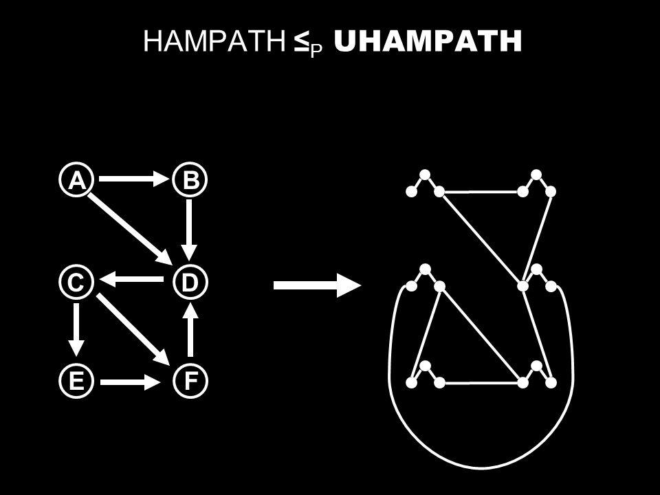 HAMPATH ≤P UHAMPATH A B C D E F