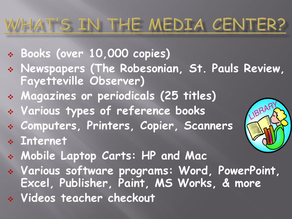 What's in the Media Center