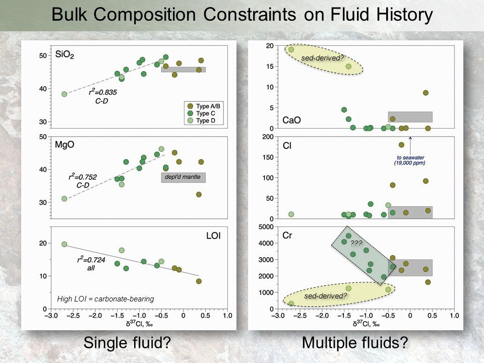 Bulk Composition Constraints on Fluid History