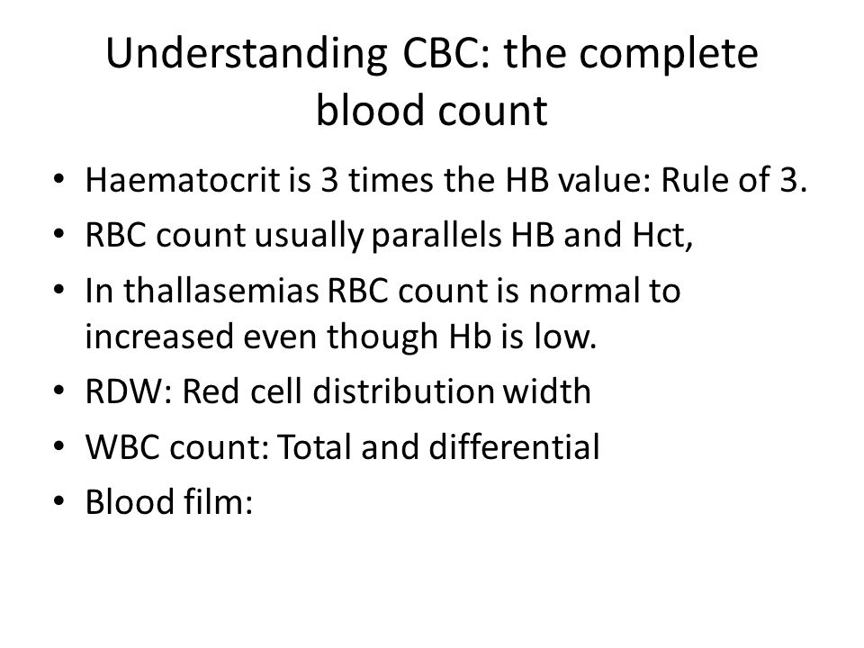 Understanding CBC: the complete blood count