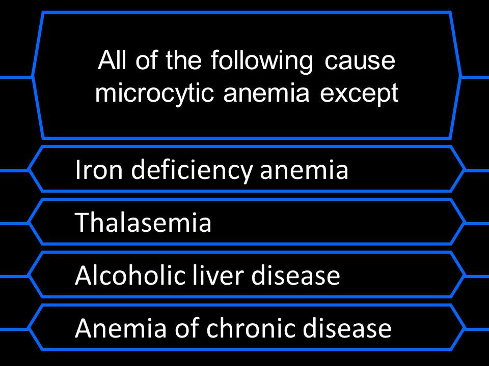 All of the following cause microcytic anemia except