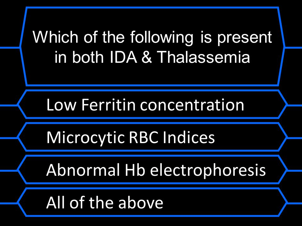 Which of the following is present in both IDA & Thalassemia