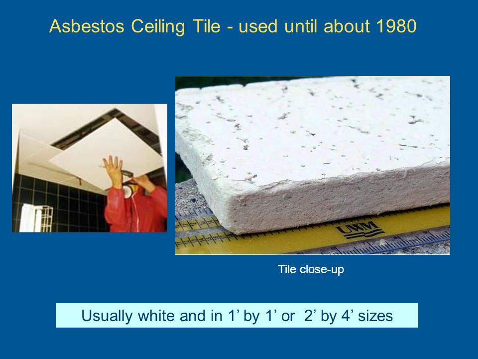 Asbestos Ceiling Tile - used until about 1980