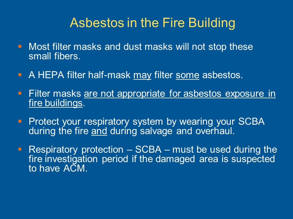 Asbestos in the Fire Building